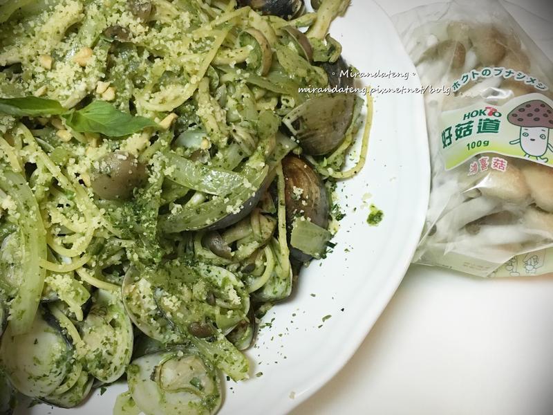 青醬蛤蜊菇菇麵【好菇道好食光】