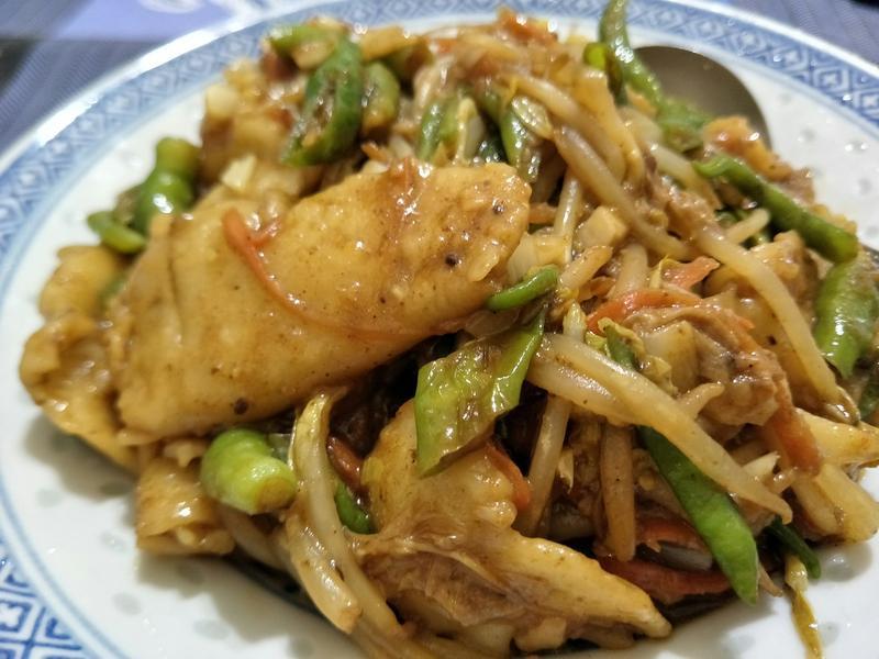 糯米椒炒麵疙瘩(全素)