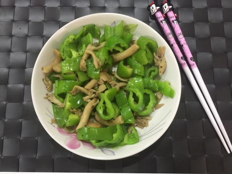 黑胡椒青椒秀珍菇 減肥瘦身 快速簡單