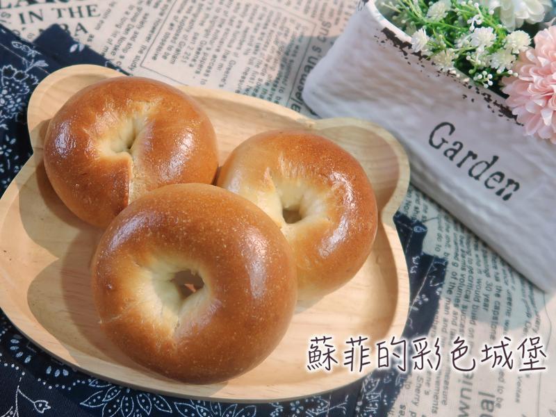 『原味鮮奶小貝果』簡單又可愛的早餐、點心
