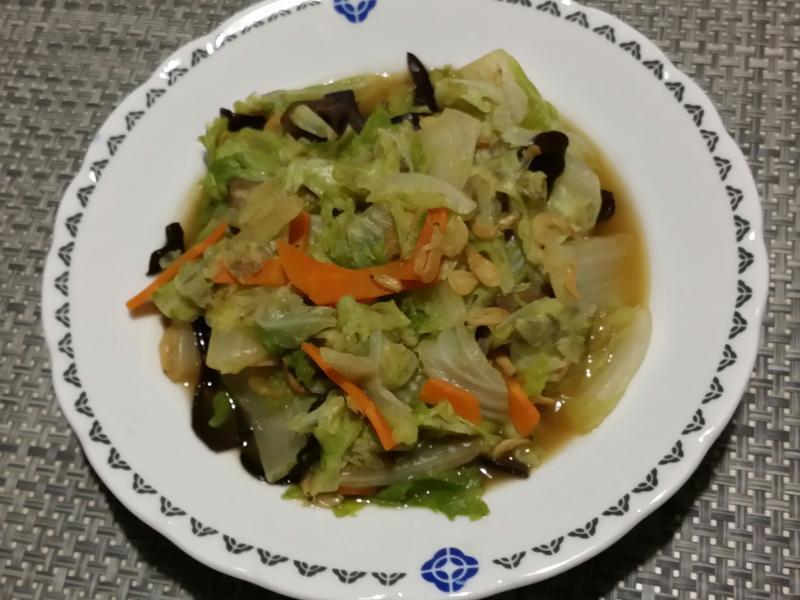 蝦皮炒大白菜♡