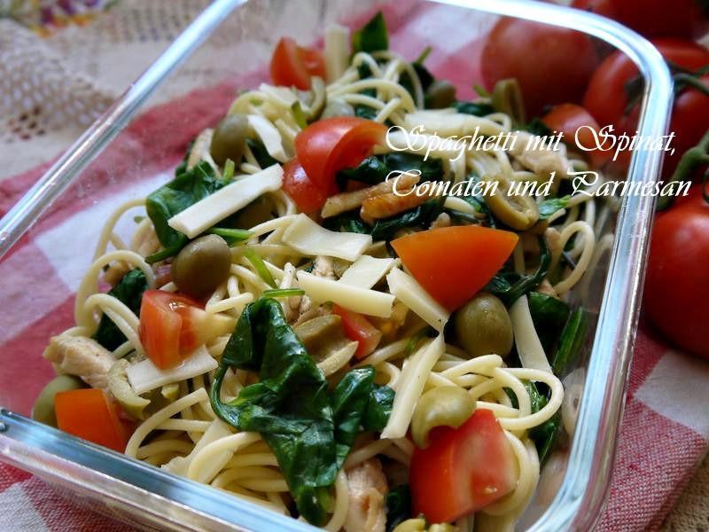 Spaghetti佐菠菜和雞肉
