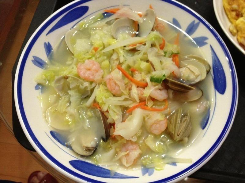 海味清蒸高麗菜