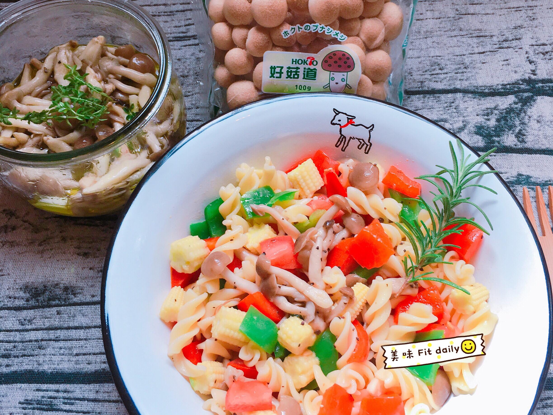 油漬菇菇彩蔬義大利麵😋【好菇道好食光】