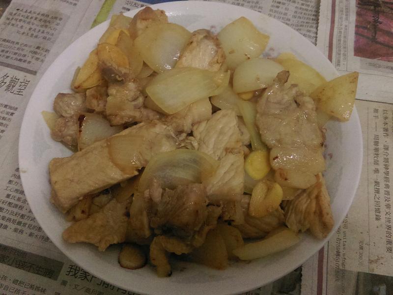 蒜炒三層肉