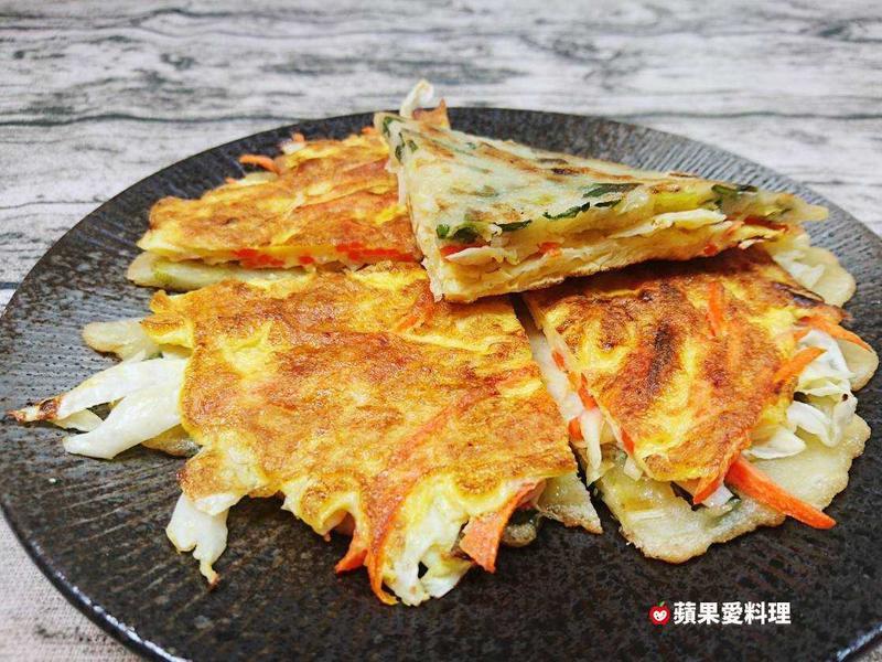 高麗菜蛋餅(免揉麵團)