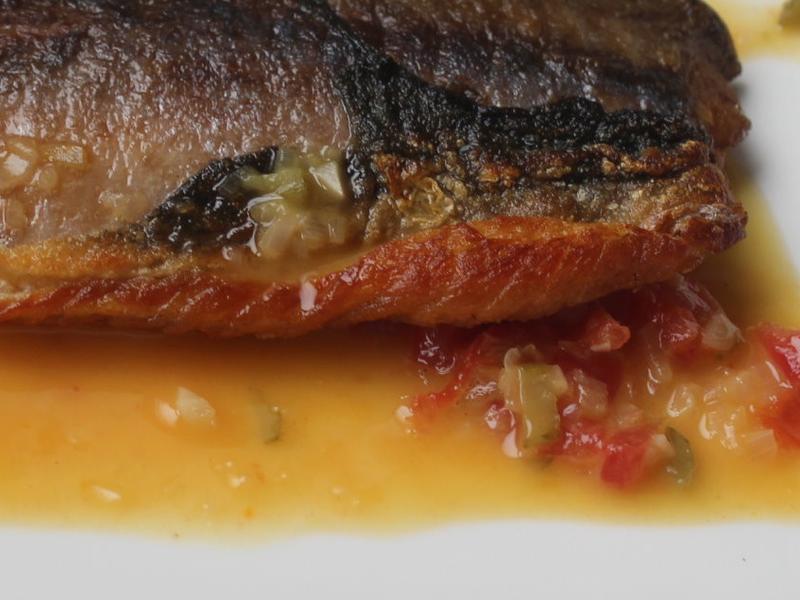 橙汁香煎鯖魚