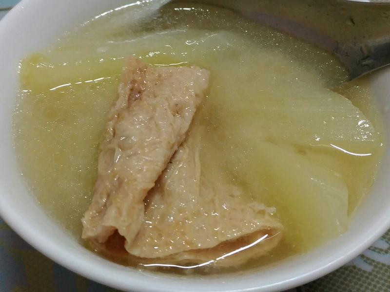 豆皮黃瓜味增湯