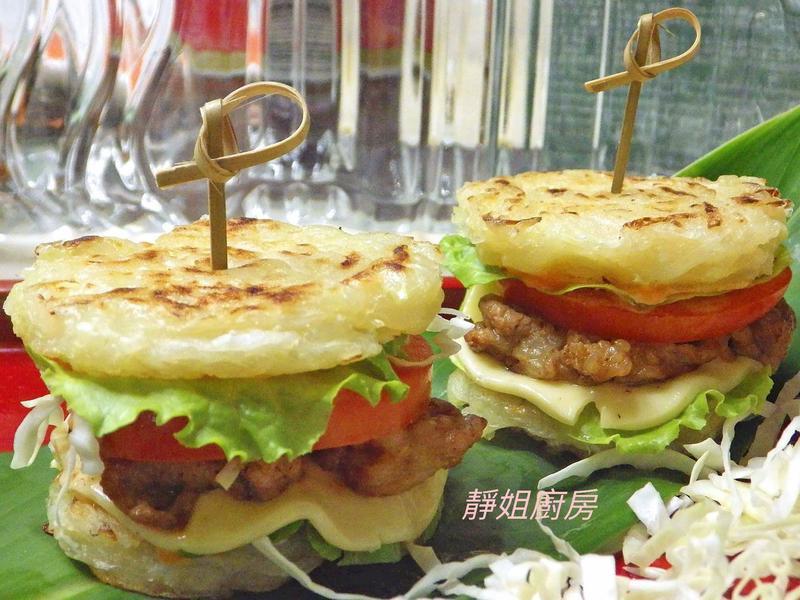 高麗菜絲煎餅燒肉串