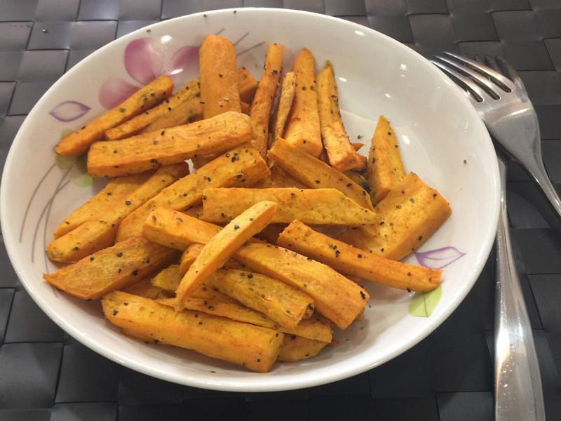 免油炸地瓜薯條 減肥瘦身 快速完成