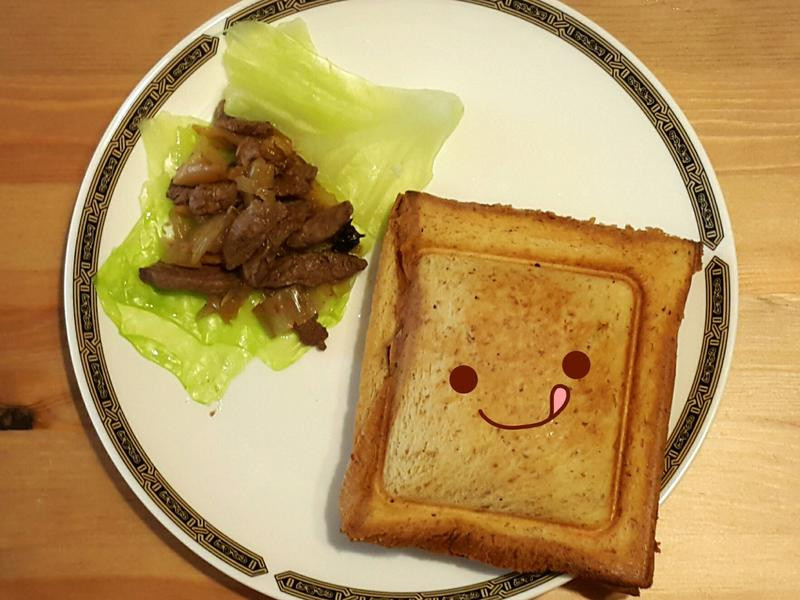 vitantonio:泡菜牛肉熱壓吐司