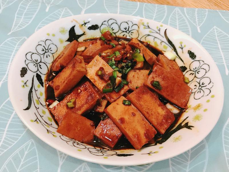 給新手超簡單「醬燒百頁豆腐」✨