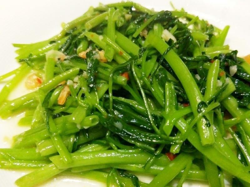 蝦米炒空心菜