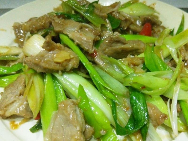蒜苗炒二層肉(便當菜)