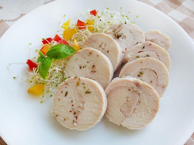 自製雞肉火腿♥低醣常備食材