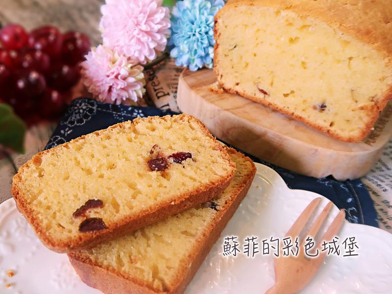 『椰香蔓越梅乳酪蛋糕』免打發蛋液常溫蛋糕