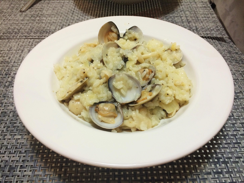 白酒蛤蠣雪菇燉飯【好菇道好食光】