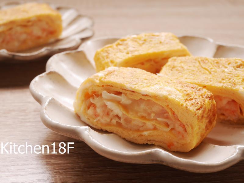 高麗菜起司鮮蝦玉子燒_便當菜10分鐘