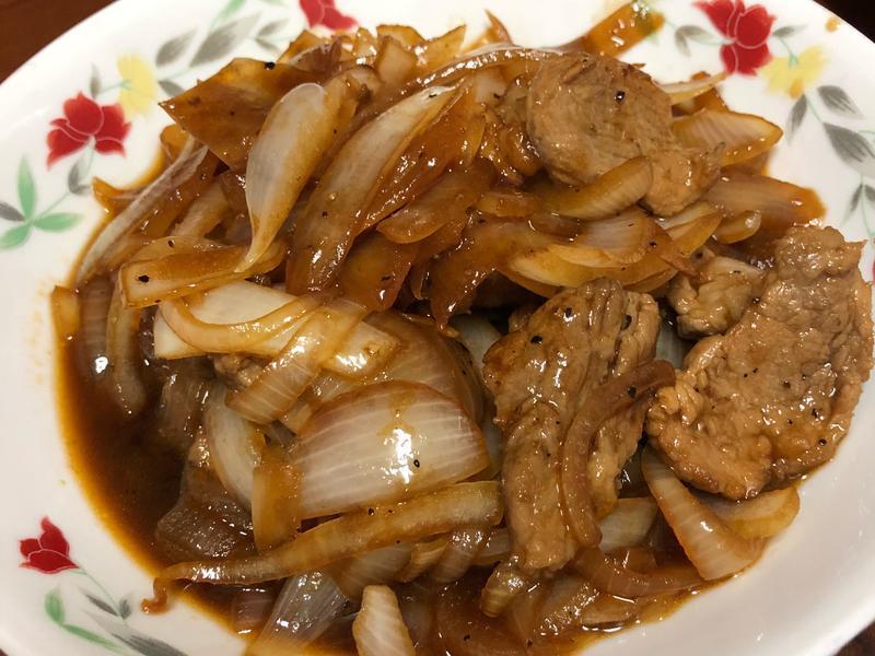 洋蔥炒豬肉