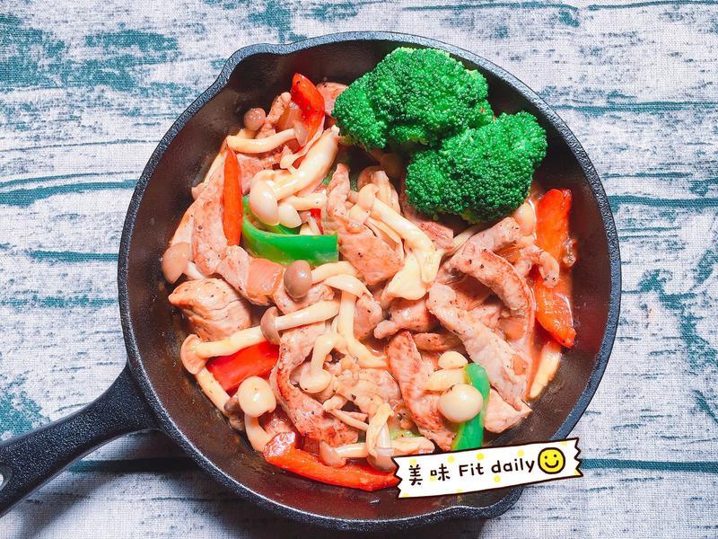 鐵板菇菇豬柳🐷【好菇道好食光】