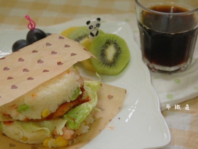 【十分輕鬆料理DIY】炒飯米漢堡