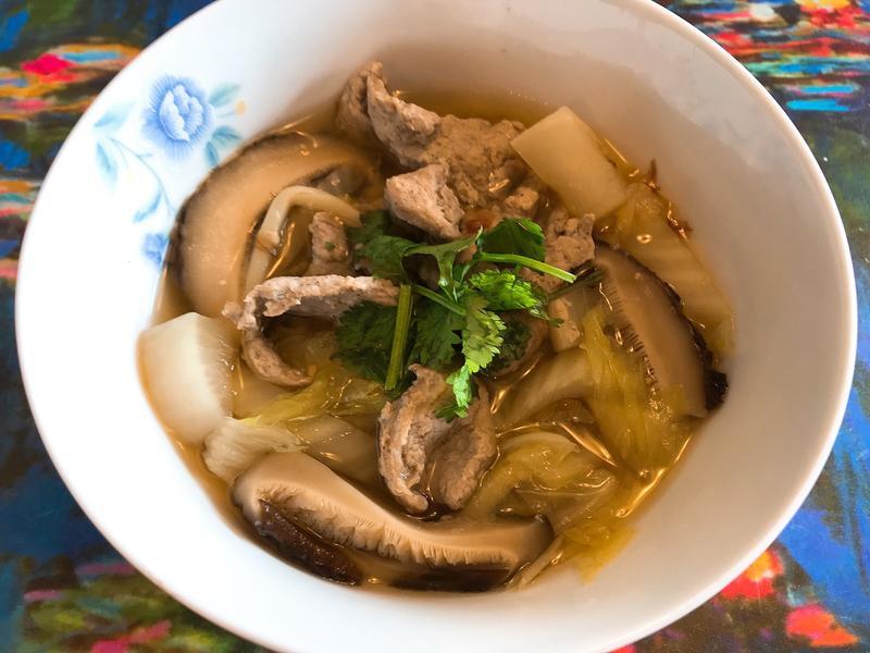 白菜赤肉羹