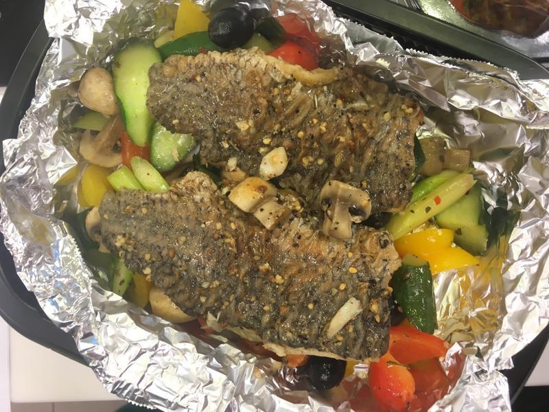 【小磨坊】嫩煎香草鱸魚燉鮮蔬