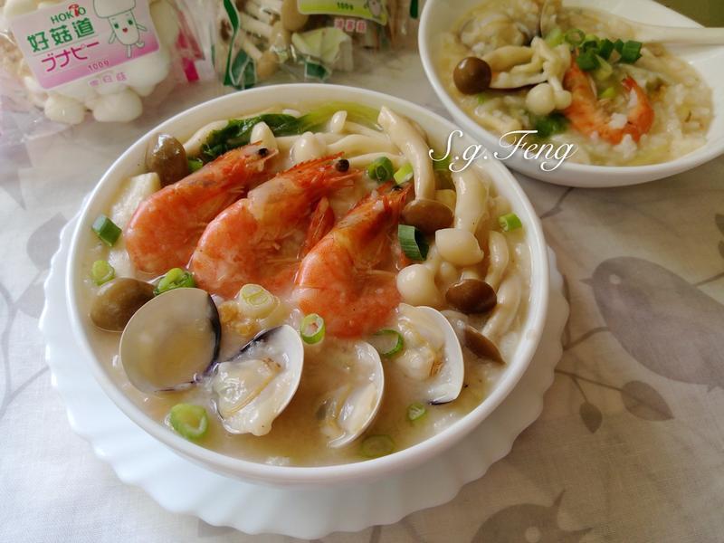 菇菇海鮮粥【好菇道好食光】
