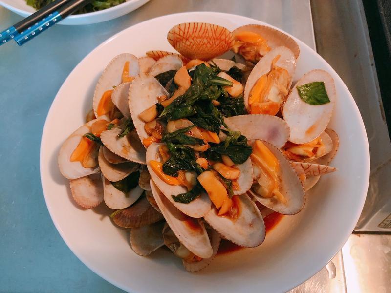 鮮炒海味~塔香醬炒海瓜子