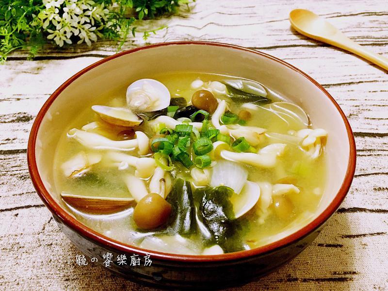 菇菇蛤蜊味噌湯   【好菇道好食光】