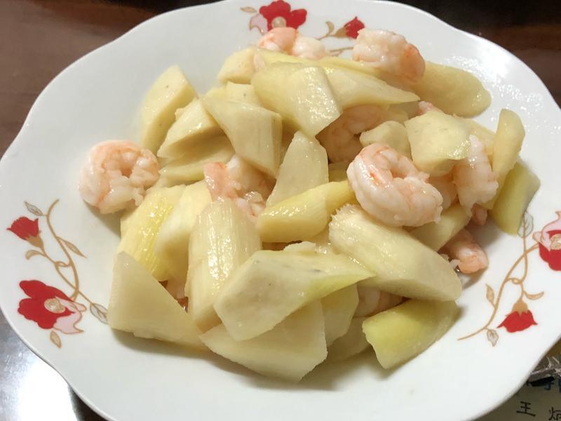 茭白筍炒蝦仁