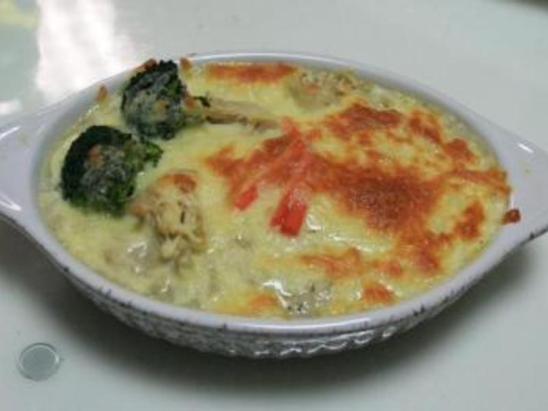 十分輕鬆料理DIY~營養健康滿分的桂冠野菇燻雞焗飯