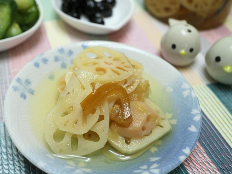 柚香涼拌蓮藕片(((0廚藝ok