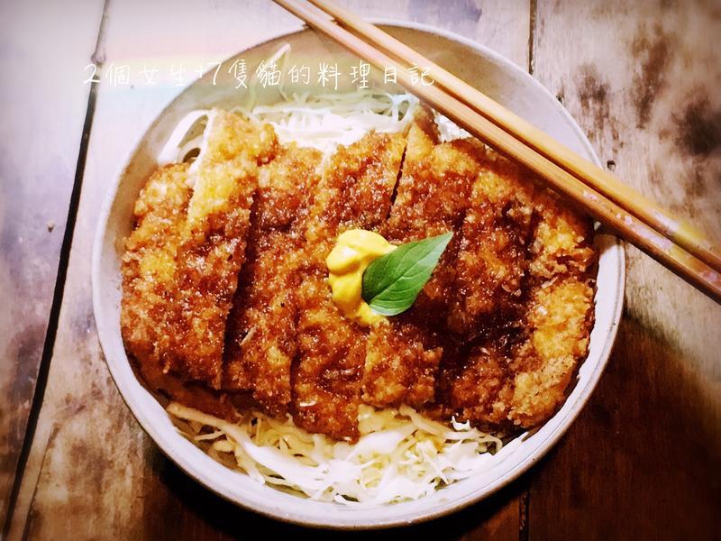 🐷豬排控的【日式香醋炸豬排丼飯】