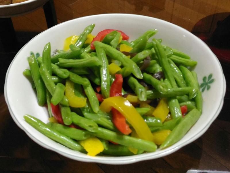 彩椒四季豆