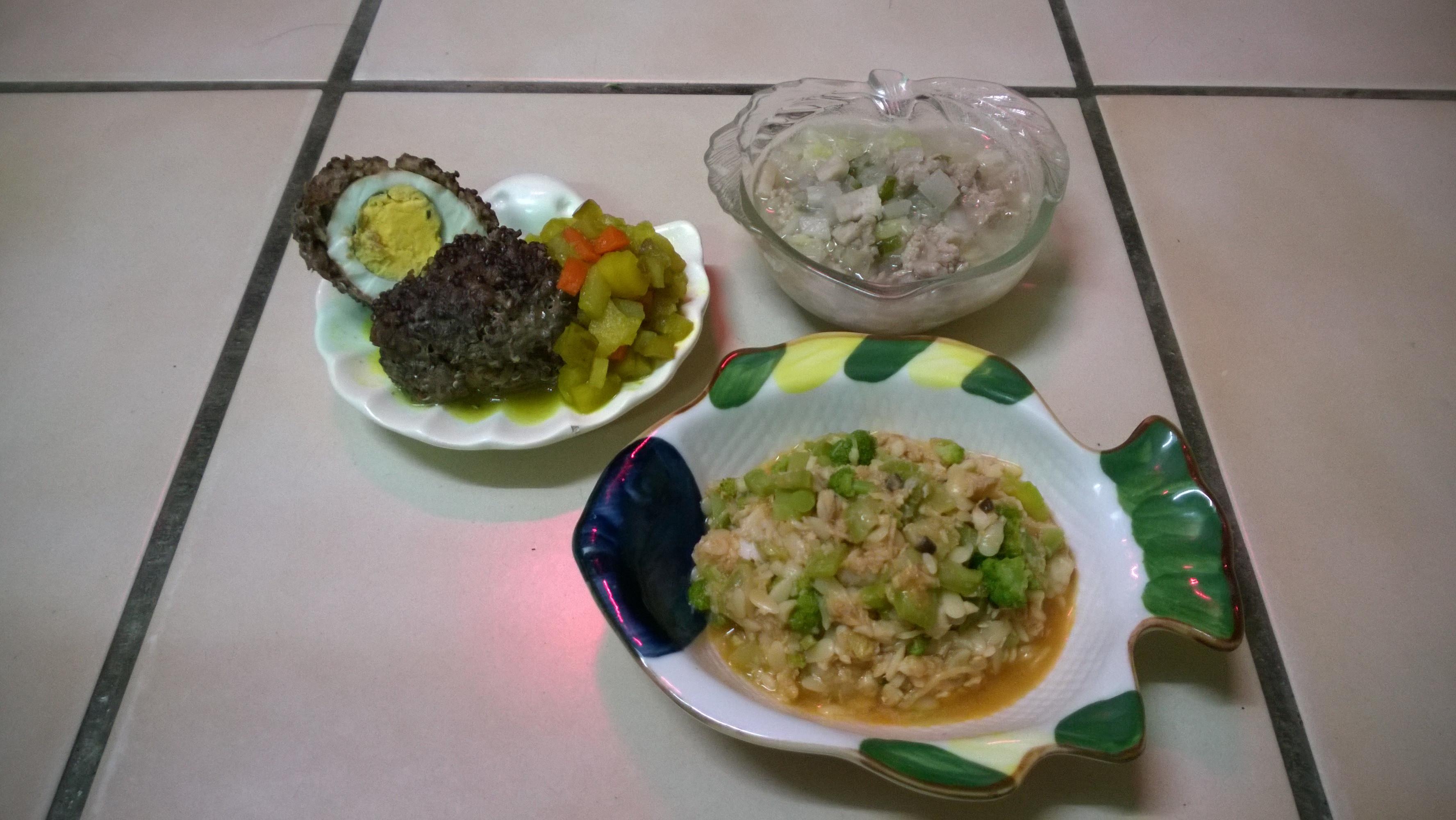 鮮食🐾蘇格蘭蛋 納豆蔬菜湯 茄汁絲瓜麵