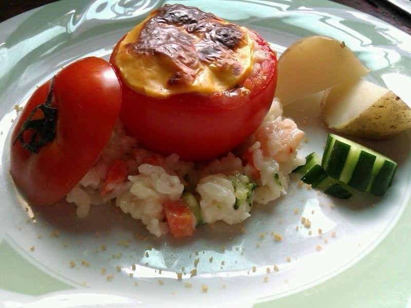 十分輕鬆料理DIY-蕃茄鑲燉飯