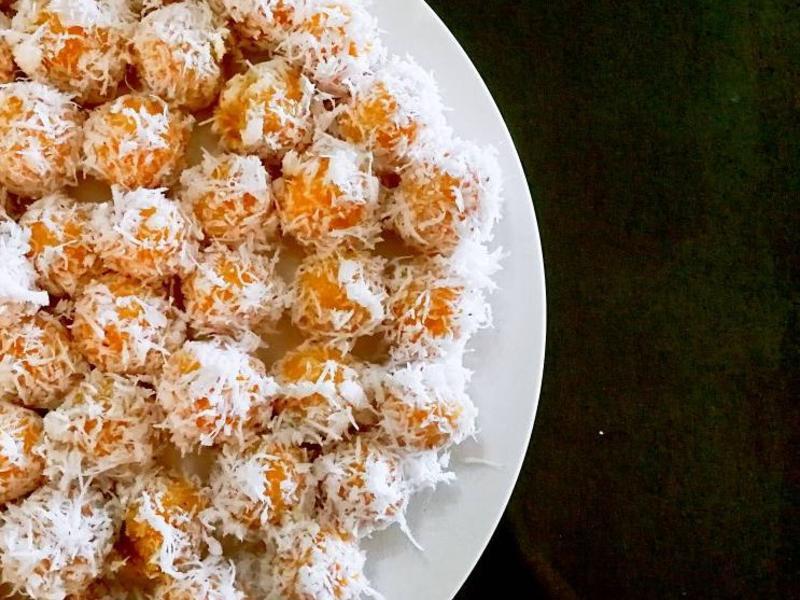 椰蓉滚椰糖番薯球