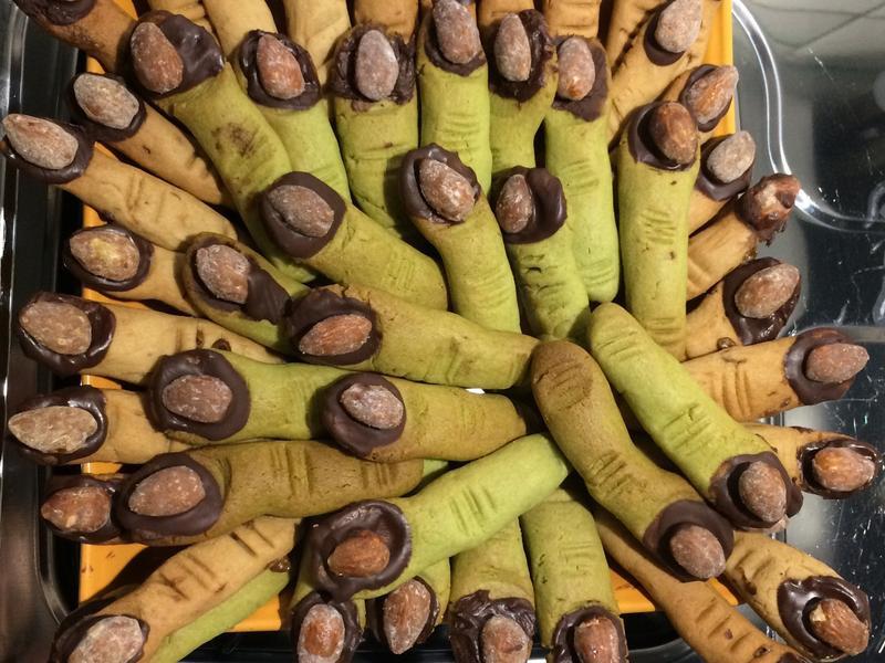 萬聖節 巫婆 &史瑞克手指餅乾