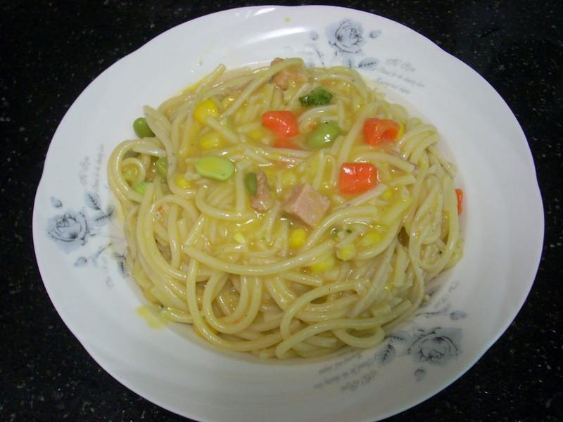 十分輕鬆料理DIY-黃金奶油培根焗麵