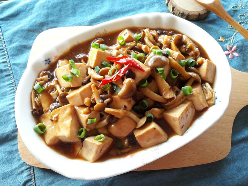 豆豉燒菇菇嫩豆腐【好菇道好食光】
