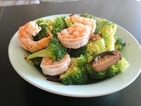 鮮蝦香菇炒綠花椰