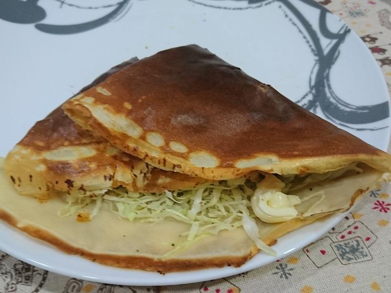 火腿玉米可麗餅