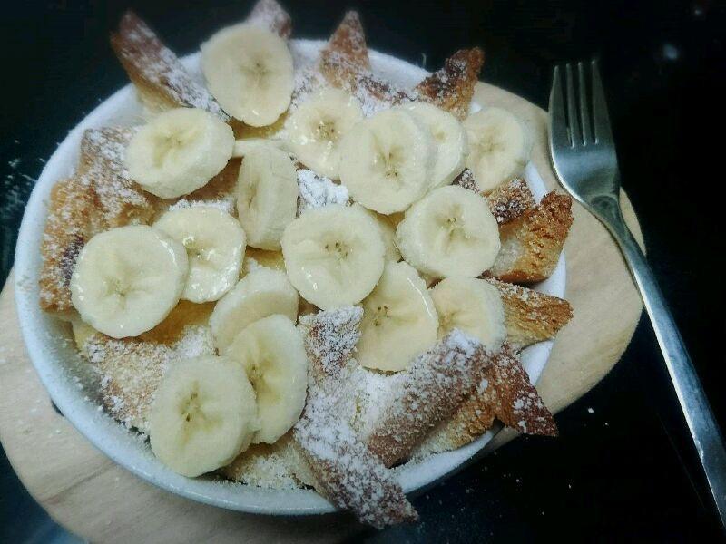 超簡單香蕉麵包布丁
