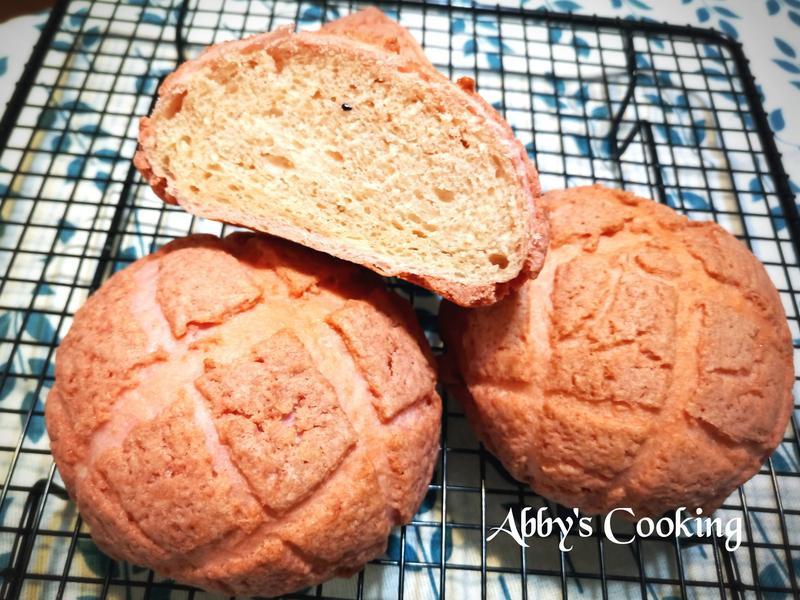 湯種紅麴火龍果菠蘿麵包
