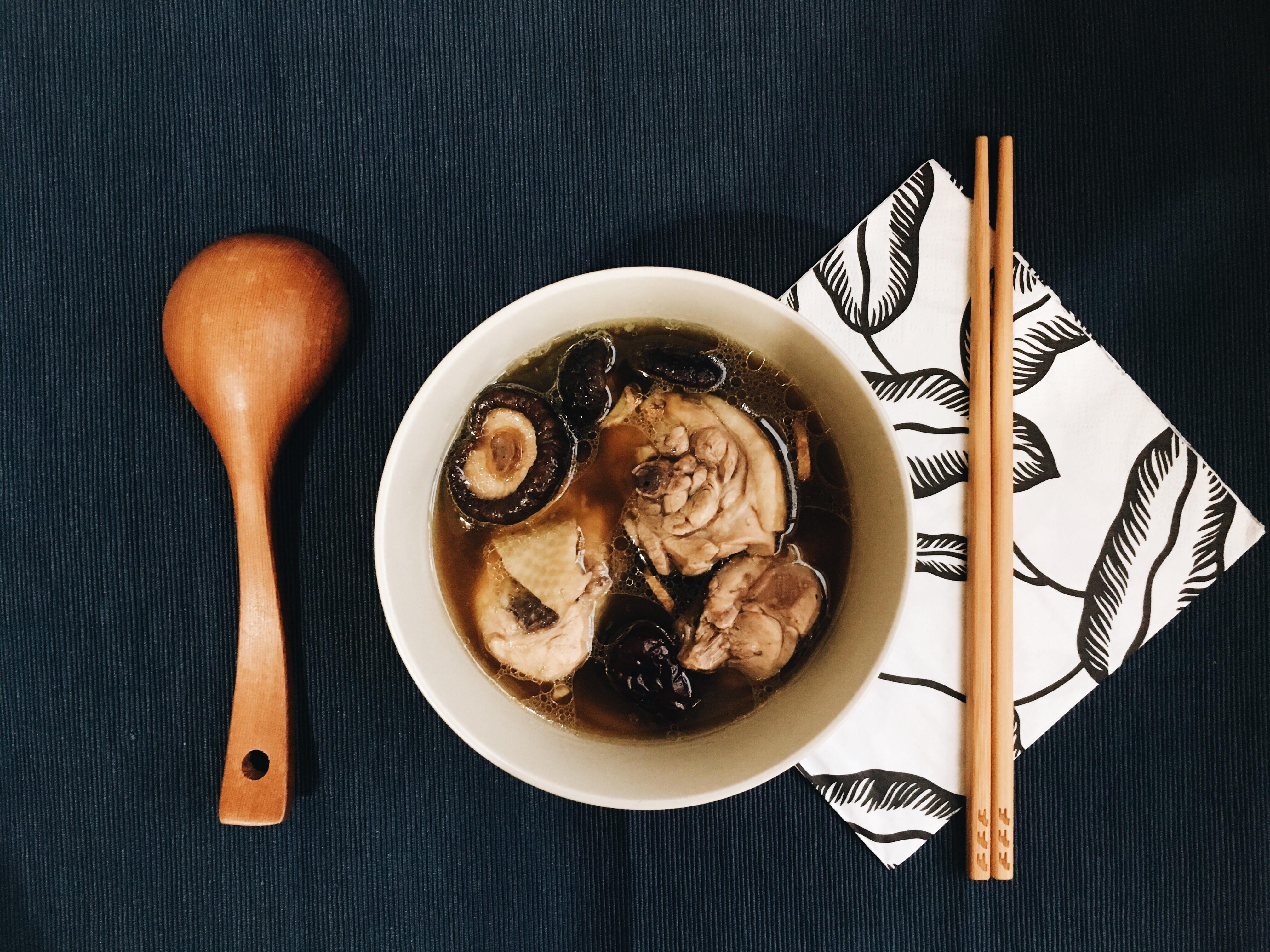 秋冬必喝的香菇雞湯