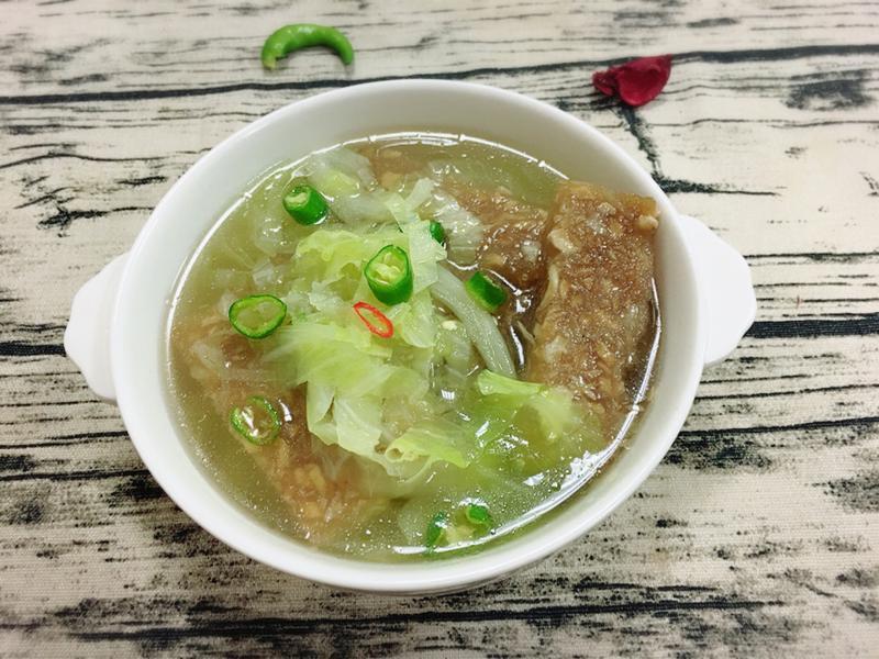 菇菜粿仔湯