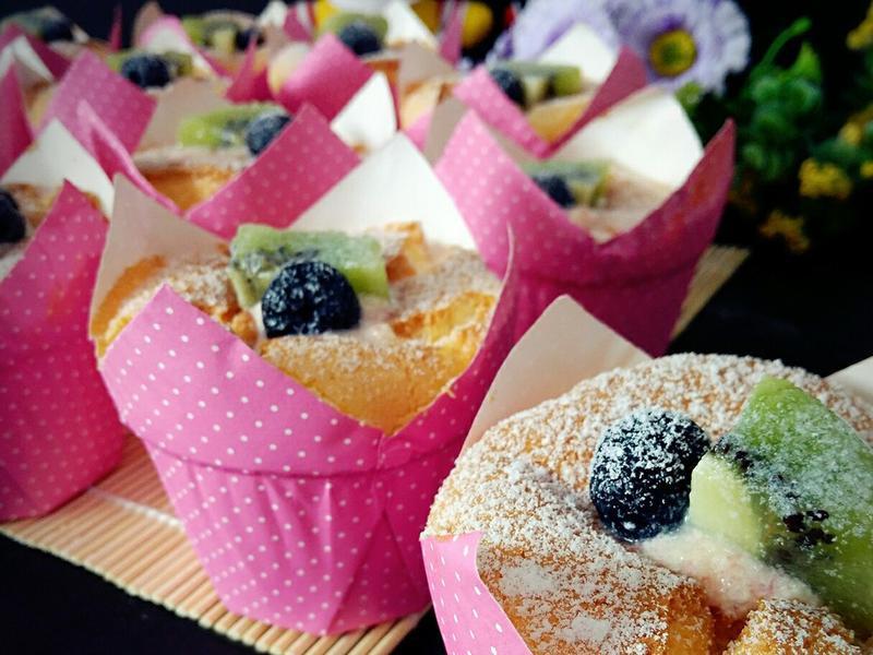 烫面北海道杯子蛋糕