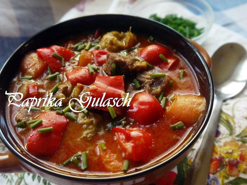 甜椒Gulasch(甜椒燉牛肉)A.