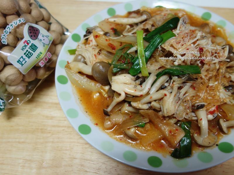 泡菜豚菇粉絲煮【好菇道好食光】